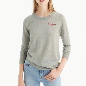 J. Crew Bonjour Gray Sweatshirt Size Small